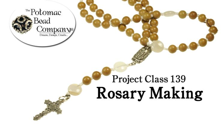 how to make a rosary bracelet with string and beads