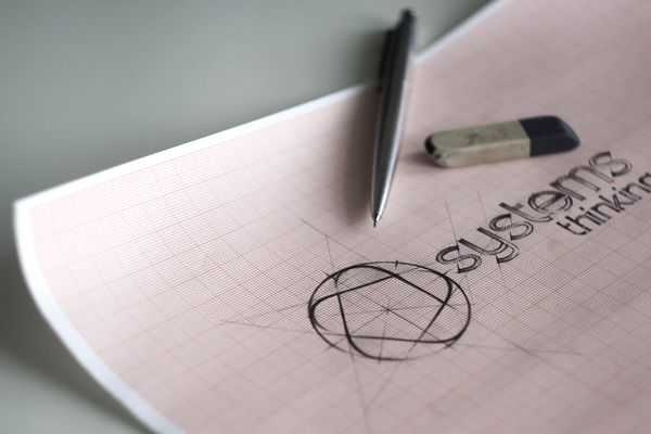 Systems Thinking - Logo Development by Agency Higher - Pencil Logo Drawing