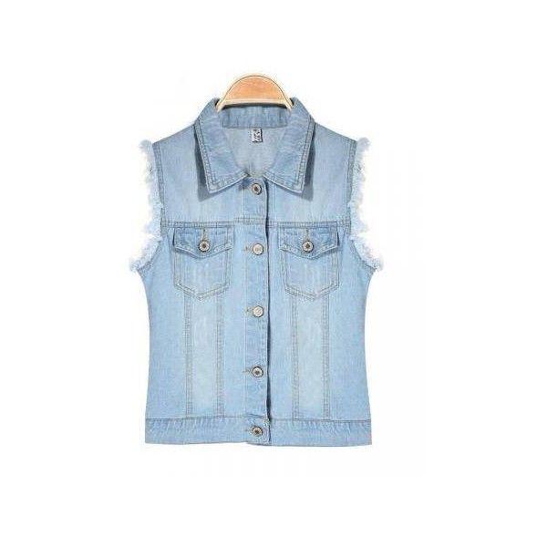 Casual Water Wash Denim Vest Outerwear J…