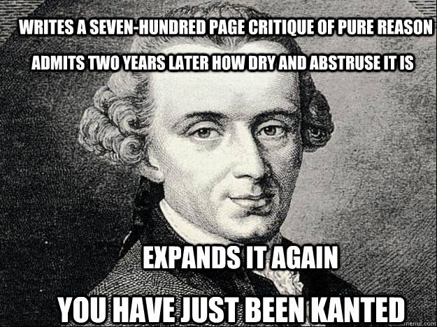 Kant Philosophy Quotes On Beauty. QuotesGram |Funny Philosophy Memes