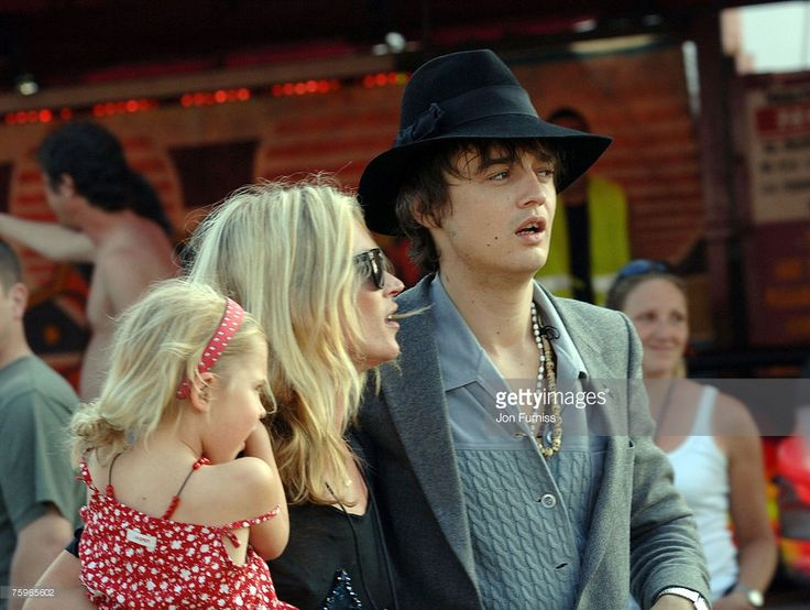 Lila Grace, Kate Moss and Pete Doherty