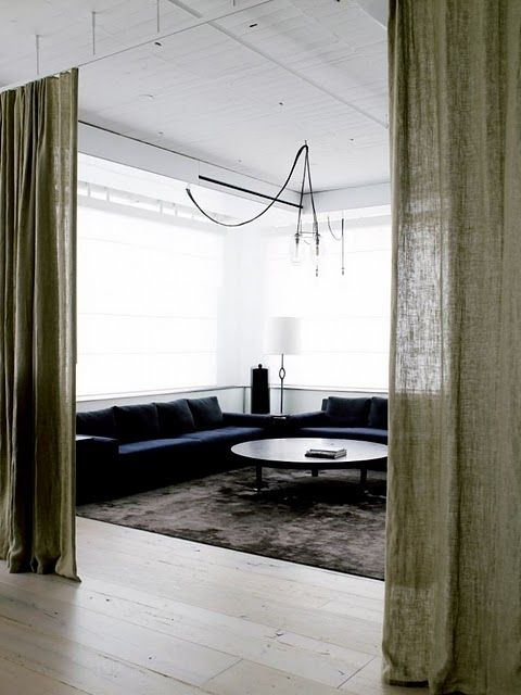 17 best ideas about curtain divider on pinterest studio apartments ikea studio apartment and - Divider for studio apartment ...