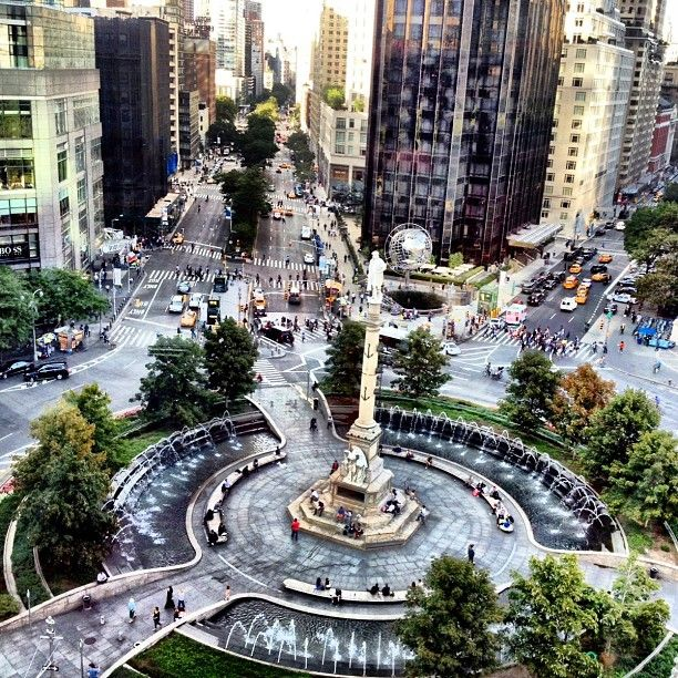 Museum Of Arts And Design Restaurant : Columbus circle view from robert restaurant in the museum