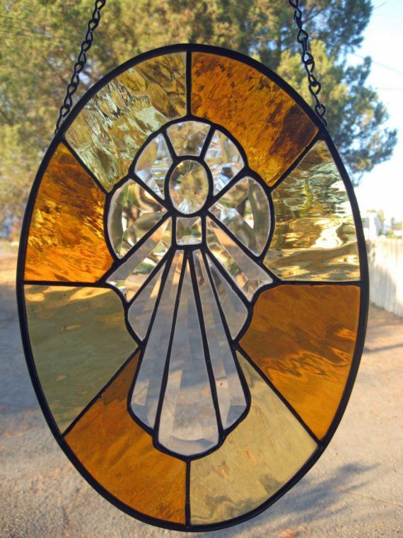 Beveled Stained Glass Angel Sale now 7500 by GlassyART on Etsy, $75.00