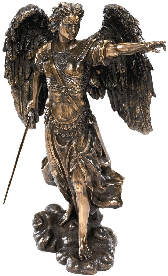 Features:  -Artist is Veronese.  -Design Toscano exclusive.  -Quality designer resin construction.  -Brown finish.  Product Type: -Figurine.  Style: -Traditional.  Theme: -Religious.  Subject: -Angels