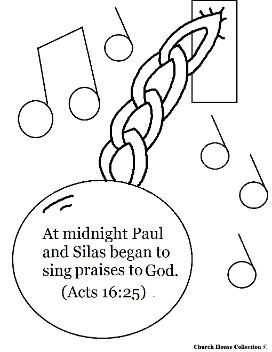 Paul and Silas Coloring Pages- Paul and Silas In Jail