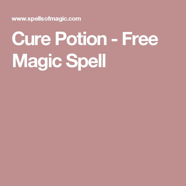 Cure Potion - Free Magic Spell