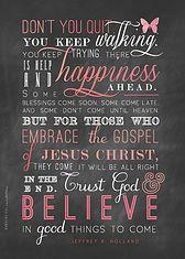 Embrace the Gospel of Jesus Christ. Elder Jeffrey R. Holland quote. LDS Quote Poster. Nonsensicalinvites.com