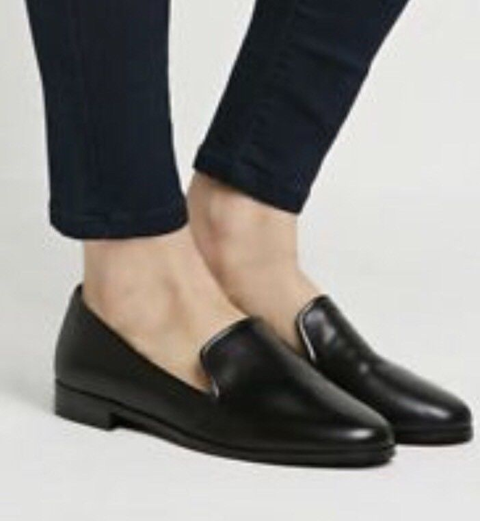 Black leather loafers, Loafers