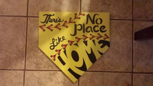 No place like home home pine wood plate softball craft ideas