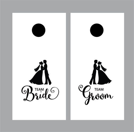 Cornhole Board Decal for Wedding  team Bride by FairyDustDecals