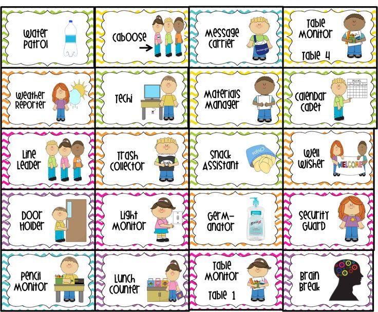 Classroom Jobs Printable Water Patrol 2 Caboose Message Carrier Table Monitor 1 4
