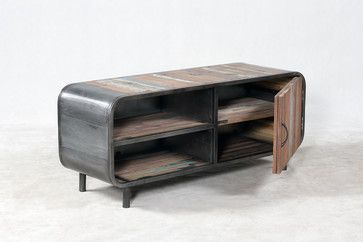 Retro / Midcentury Modern Style TV Entertainment Console - beach style - media storage - Boise - Impact Imports