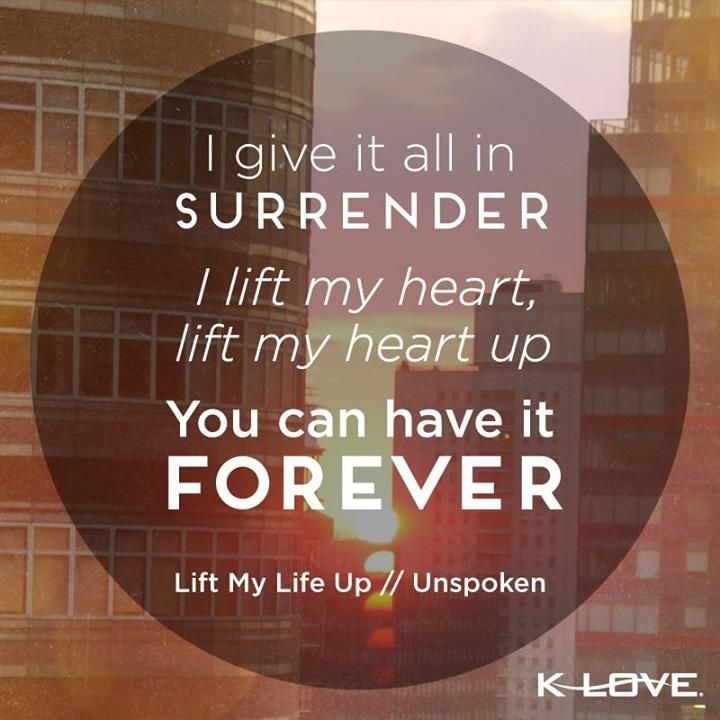 I Will Lift You Up Lyrics