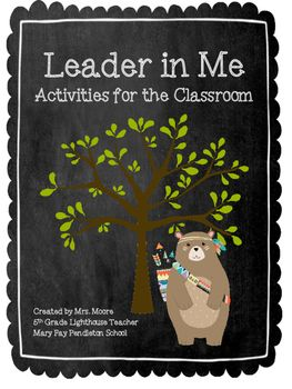 Welcome to my Leader in Me Activities for the Classroom Set.  All of the activities have been tested in my classroom and classes throughout my school.  We earned Lighthouse Status this year!!  -  Make a Classroom Mission Statement-  Make a Family Mission Statement -  Habit Action Checklists-  Circle of Concern chart;- Paws to Think activity-  My 7 Habits Skill,student ranking system -  Lots of goal sheets-  Big Rocks  - Put First Things First Sheet-  Win-Win Solutions partner activity…
