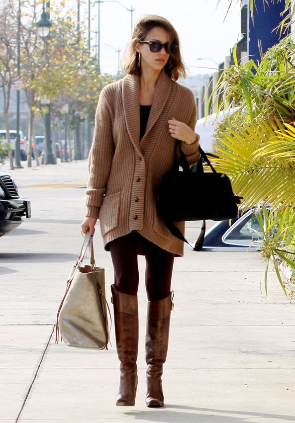 oversized sweaters and boots...enough said