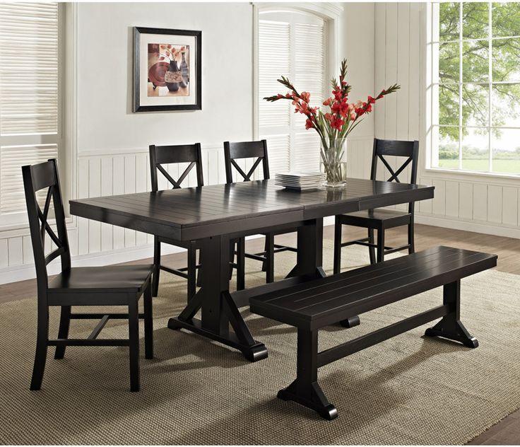 Best 25 Black Dining Set Ideas On Pinterest  Black Dining Room Glamorous Black Wood Dining Room Table Review