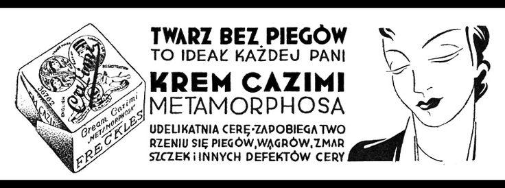Krem Cazimi Metamorphosa - reklama prasowa, 1934 rok