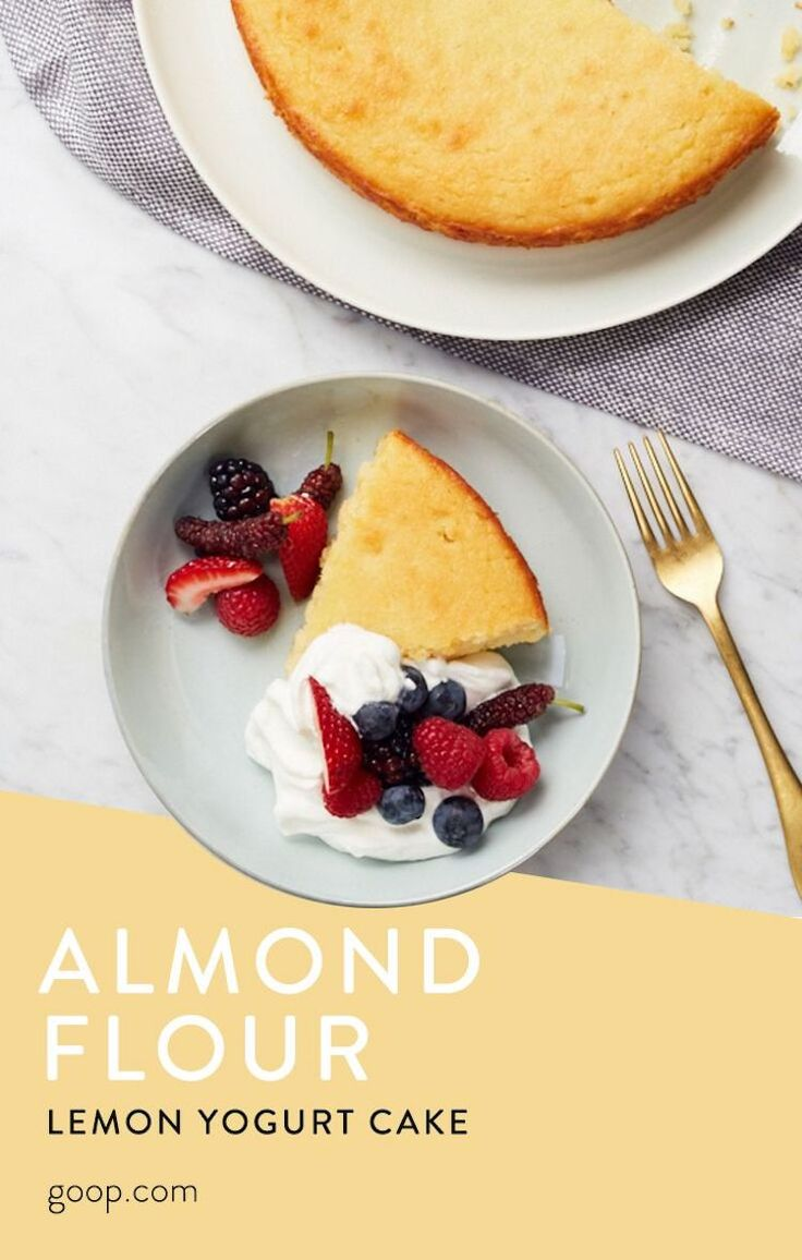 Lemon Almond Yogurt Cake