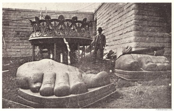 In February 1877, Congress approved the use of a site on New York Bedloe's Island, which was suggested by Bartholdi. In May 1884, the statue was completed in France, and three months later the Americans laid the cornerstone for its pedestal in New York Harbor. In June 1885, the dismantled Statue of Liberty arrived in the New World, enclosed in more than 200 packing cases. Its copper sheets were reassembled, and the last rivet of the monument was fitted on October 28, 1886, during a…