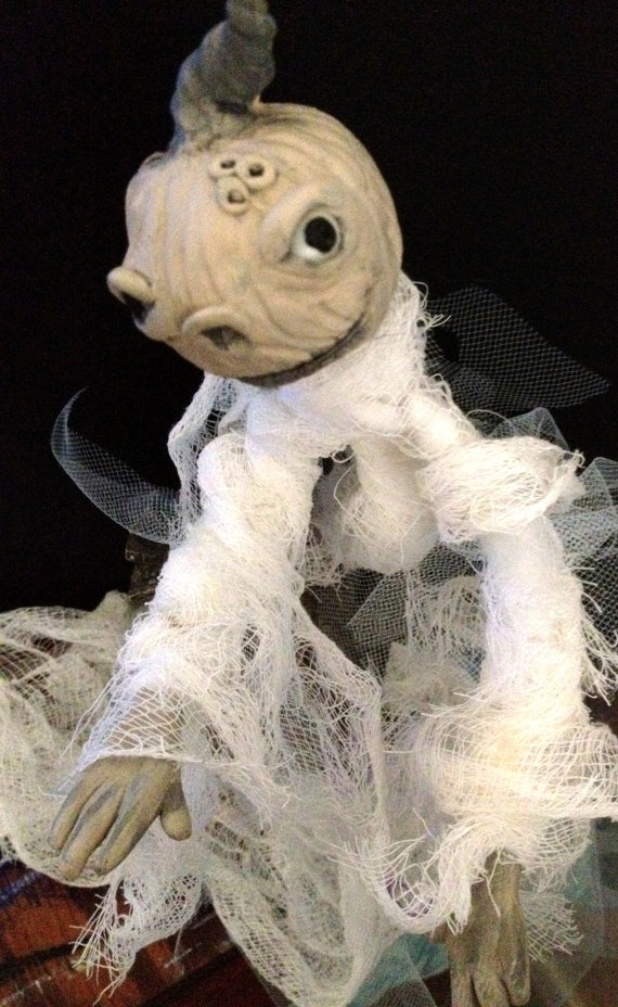 The ghost of pumpkins past Art doll by Jenice by meuandfriends, $30.00
