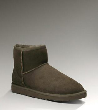 UGG Classic Mini 5854 Chocolate For Sale In UGG Outlet Save more than $100, Free Shipping, Free Tax, Door to door delivery