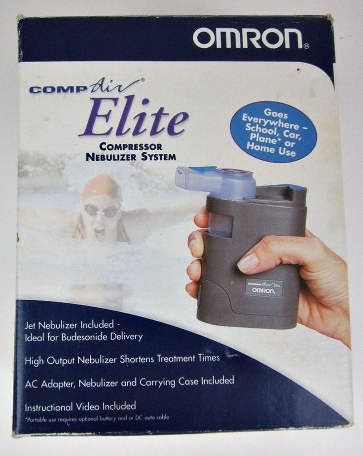 Omron Comp Air Elite Portable Compressor Nebulizer System NE-C12V & Carry Case #Omron