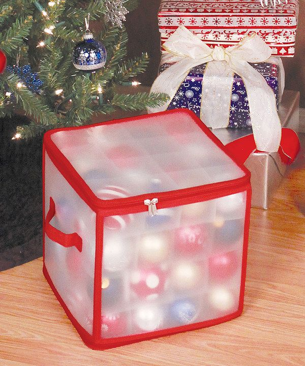 Look at this Frosted 64-Ornament Storage Box on #zulily today!