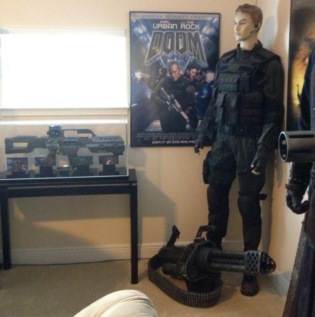 Doom Original Screen Used Chain Gun Movie Prop Used by The Rock | eBay