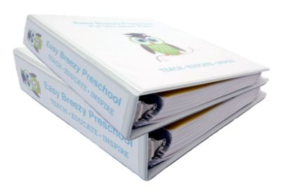 40 weeks of daily step-by-step pre-k lesson plans for 3 year olds (200+ lessons) and 4 year olds (200+ lessons).