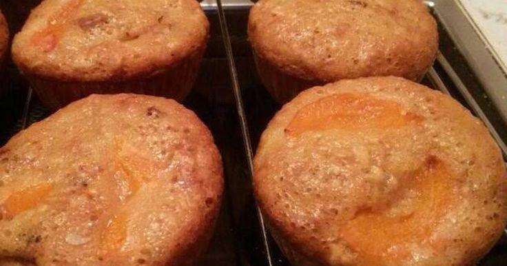 Mennyei Barackos, zabpelyhes muffin recept! Saját találmány!! Isteni finom lett, na nem azért mondom, mert én készítettem.😂 És...még egészséges is🍀