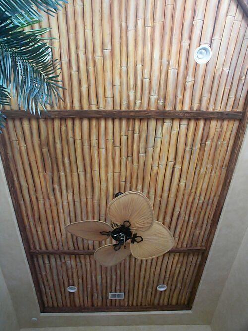 Trompe l'oeil Bamboo ceiling - Mural Idea in