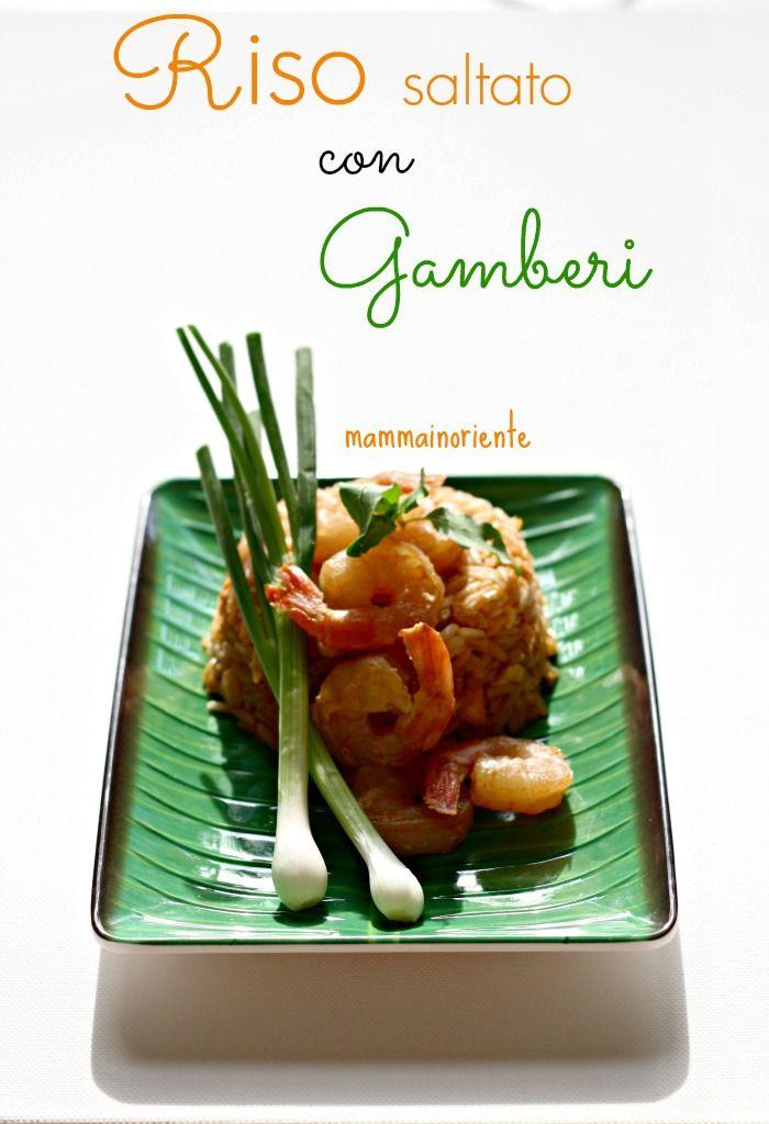 Riso saltato con gamberi - cucina thai
