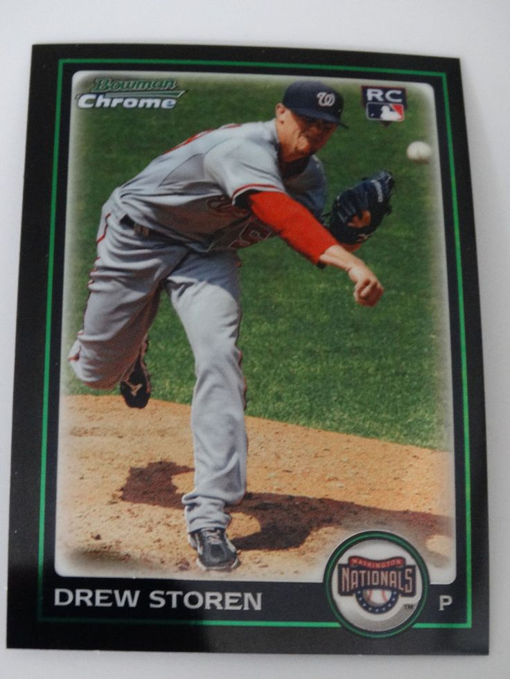 2010 Bowman Chrome #199 Drew Storen Washington Nationals Rookie RC Baseball Card #BowmanChrome #WashingtonNationals