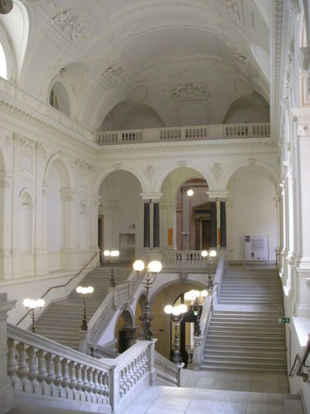 The grand staircase in the Main Building of the University of Vienna