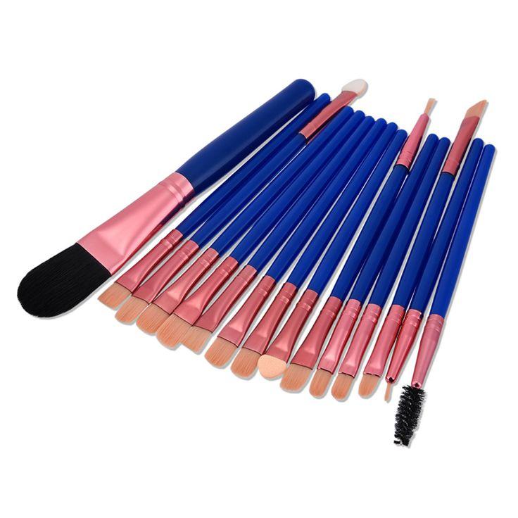 15Pcs/set Eye Shadow Makeup Brush Set Eyeshadow Powder cosmetic Foundation Cosmetics Brushes Pro Brush For Shadow Eyelash NA25 #Affiliate
