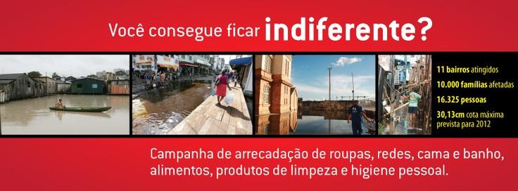 Campanha de apoio às famílias afetadas pela cheia do Rio Negro. Saiba como participar.