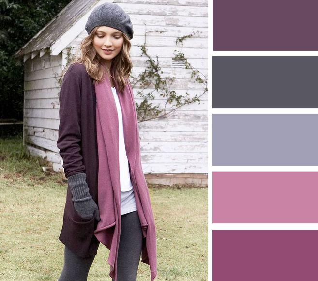 Мало того, что розовый и серый отлично сочетаются между собой, так еще и сочетание сливового и розового смотрится настолько нежно, что можно с уверенностью сказать – это беспроигрышный выбор.
