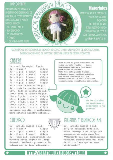Amigurumi Patrones Pdf : Mu�eca doll amigurumi patr�n gratis en espa�ol crochet