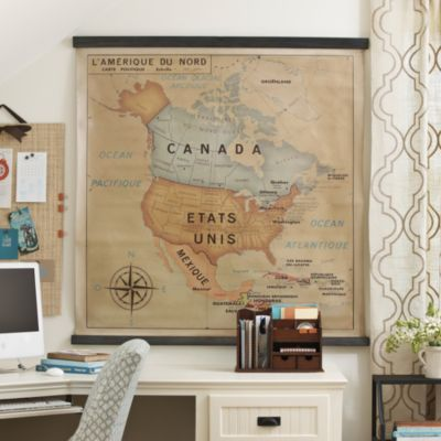 Lamerique School House Map | Ballard Designs - I kind of love this for Ty's room