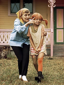 One of my favourite real life persons and non-real life persons: Astrid Lindgren and Pippi Longstocking