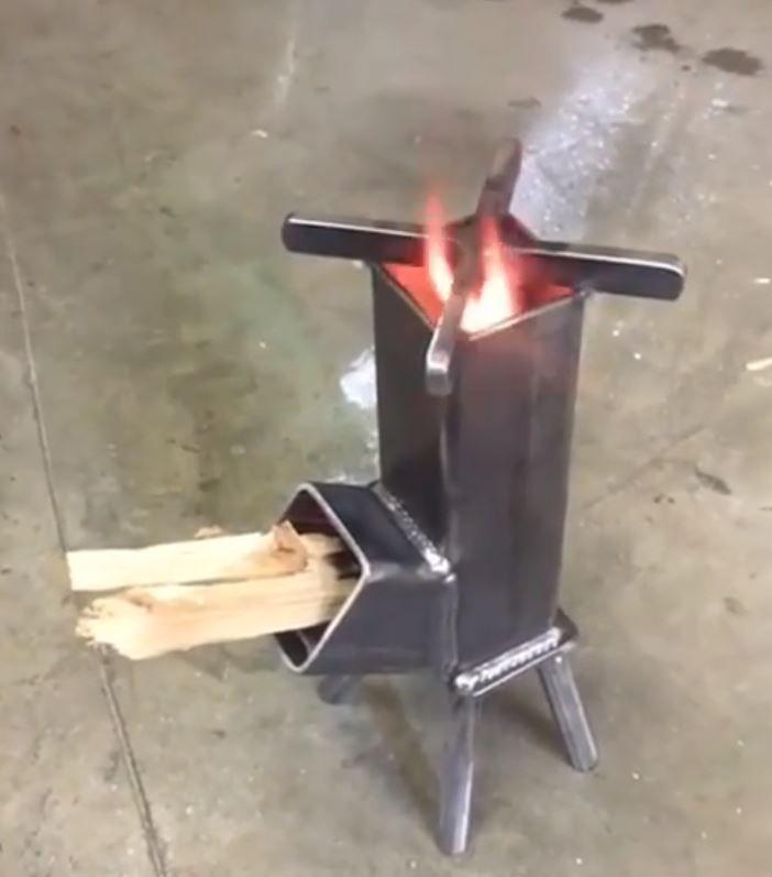Small Rocket Stove Cooker Rocket Stoves Stoves Cookers Diy Rocket Stove