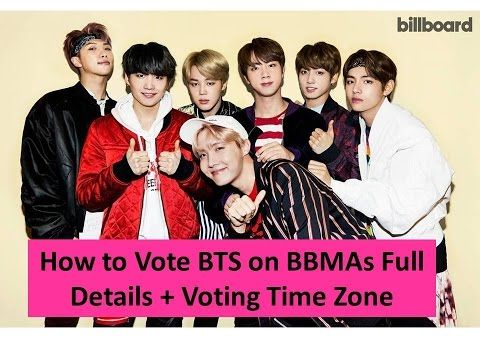 [BTS] How to Vote BTS on BBMAs Full Details + Voting Time Zone