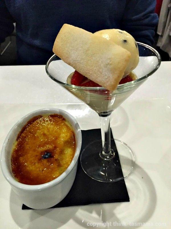 Photo and article for think-tasmania.com ~ Basil Crème Brulee ~ Bayviews Restaurant & Lounge Bar ~ #Burnie #Tasmania #sweets #desserts #foodie