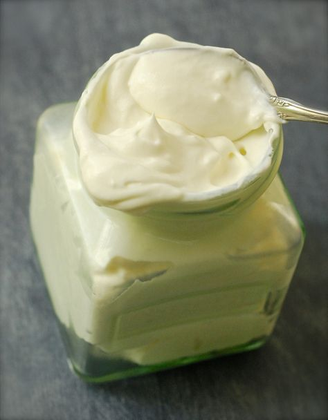 Mock Devonshire Cream ~  6 oz. Neufchatel cheese, softened to room temperature  1 cup heavy whipping cream  2 and 1/2 Tablespoons powdered s...