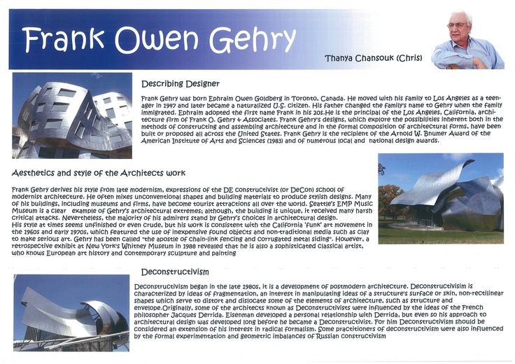 Frank Owen Gehry Research Page 2