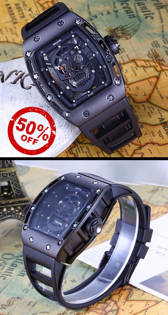 Men's See Through Skull Watch. Get this luxury watch at 50% discount today