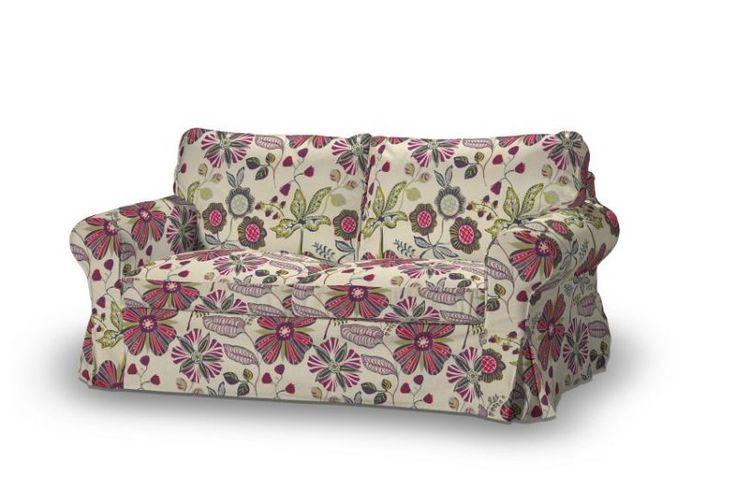 #kwiaty #flowers #home #inspiration #dom #dekoracje #poszewki #tkaniny  Pokrowiec na sofę Ektorp 2-osobową rozkładana NOWY MODEL 2012 w kolekcji Etna , tkanina: 705-12