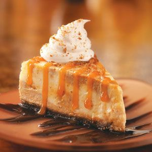 Deluxe Pumpkin Cheesecake Recipe from Taste of Home -- shared by Sharon Skildum of Maple Grove, Minnesota