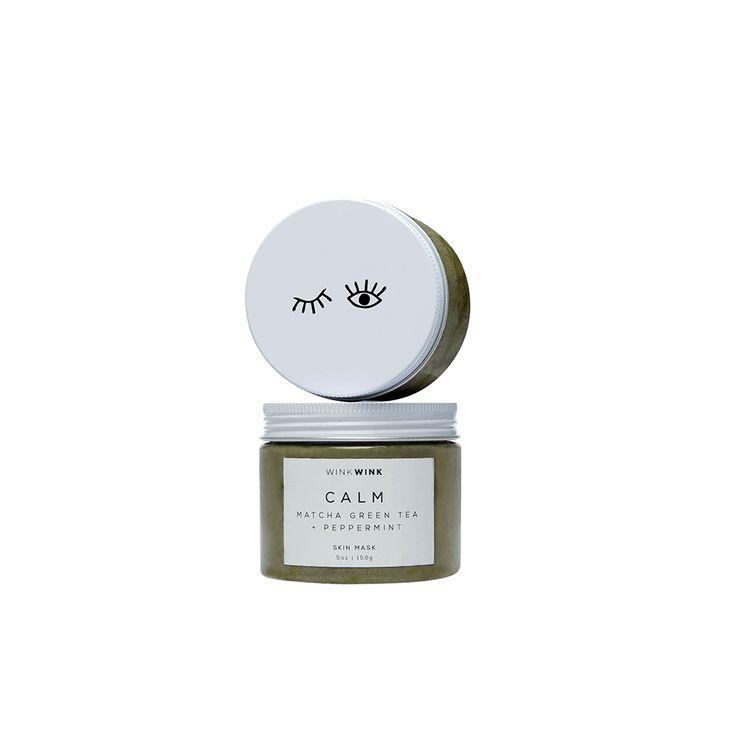 CALM | Matcha green tea + peppermint skin mask
